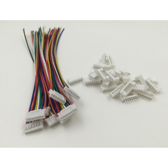 20 SETS Mini Micro JST 2.0 PH 7-Pin Connector plug with Wires Cables 200MM mini micro jst 2 0mm t 1 6 pin connector w wire x 10 sets 6pin 2 0mm