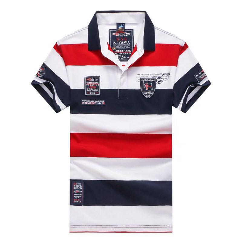Vintage Golf High Quality slim fit Camisas Masculinas AERONAUTICA MILITARE Mens POLO Shirt social Shirts patchwork formal shirt