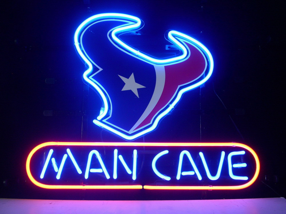 NEON SIGN board For HOUSTON TEXANS MAN CAVE LED FOOTBALL