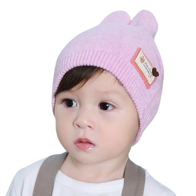 Autumn Winter Toddler Infant Knitted Baby Hat Adorable Rabbit Long Ear Hat  Baby Bunny Beanie Cap Photo Props 7bcc857e368b