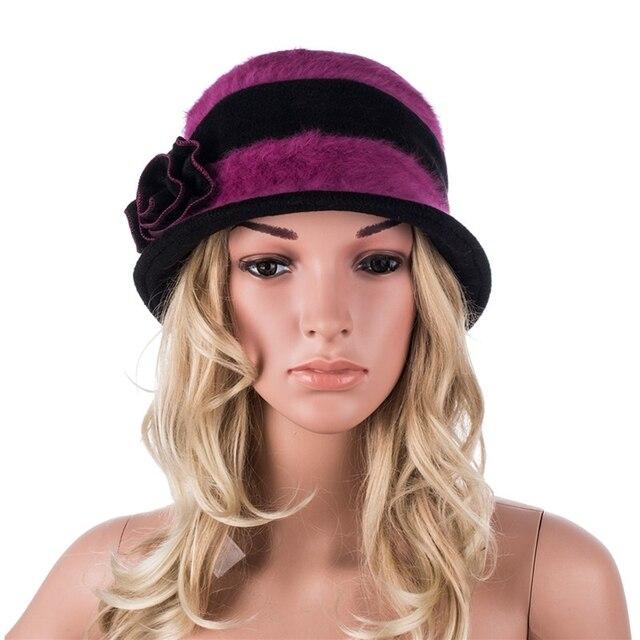 A377 Высокое качество Мода Меховая Шапка женская Fedora Шляпы для Женщин Зима многоцветный Cloche Отдых Дамы Шляпу