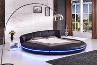 2017 мягкие кровать, мебель для спальни Новое поступление продвижение без пояса из натуральной кожи мягкая кровать King Cabecero Кама складной совр