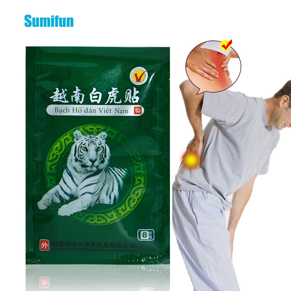 32Pcs Vietnam White Tiger Balm Medical Plaster Rheumatoid Arthritis Joint Pain Relief Back Body Muscle Patches Sticker D1474(China)