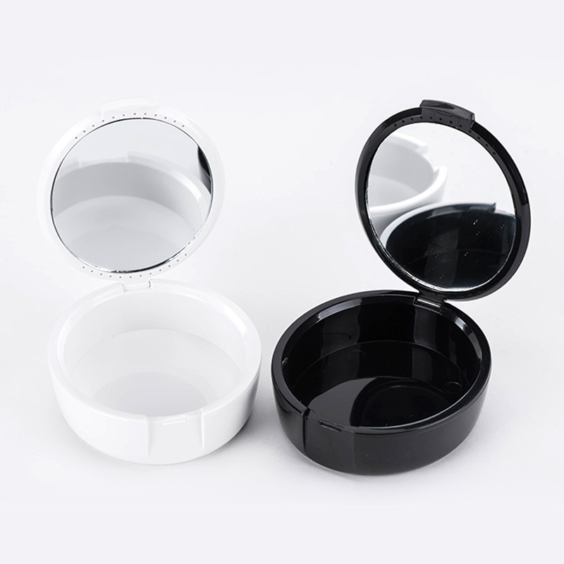 2019 1pc New Denture Box High Quality Full Denture Soaking Case Prosthesis Container Denture Bath Box 2 Colors With Mirror
