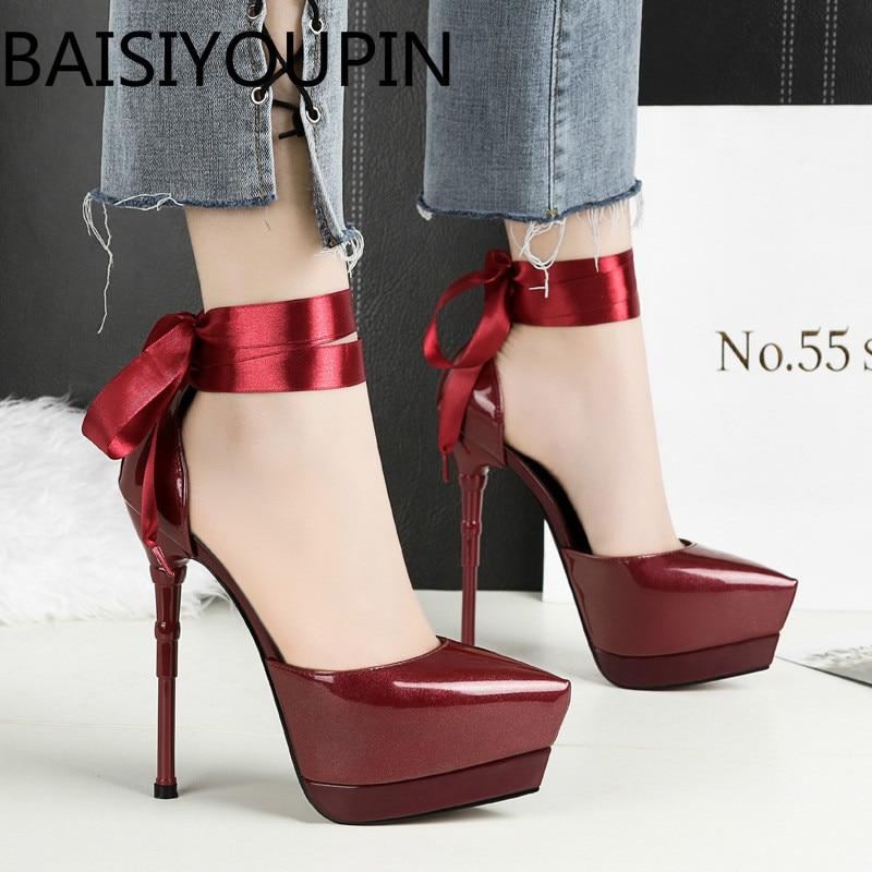 Женские пикантные туфли на высоком каблуке; женские тонкие туфли на очень высоком каблуке с острым носком; свадебные туфли на платформе 14,5 с