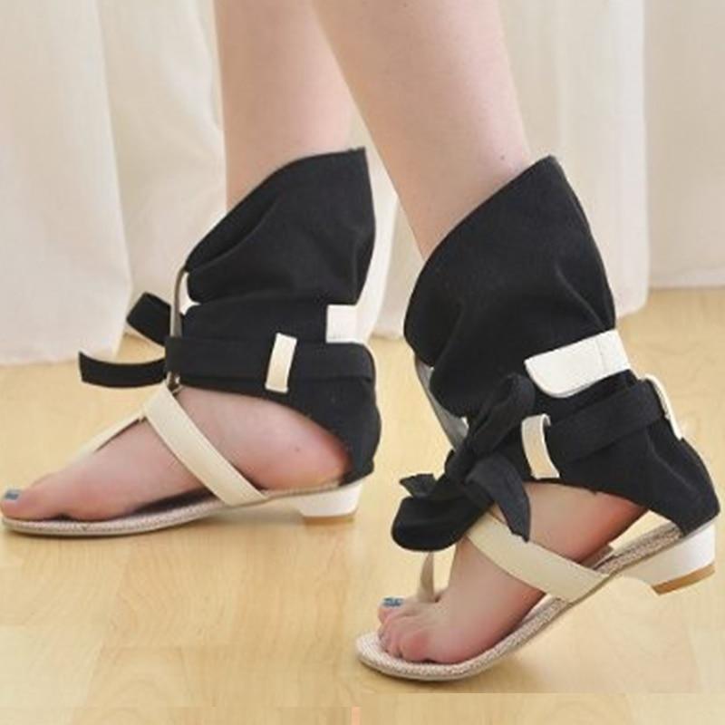 f857954ba49 Size 34 43 Women Ladies Flat Sandals Fashion Dress sexy Flats Summer High  Heels Shoes Slippers Footwear Sandals-in Women s Sandals from Shoes on ...