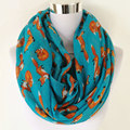 Nueva moda Fox infinito bufanda Animal bufanda pequeño zorro bufandas en bufanda larga Fox en Tan chales Venta caliente de las mujeres pañuelo