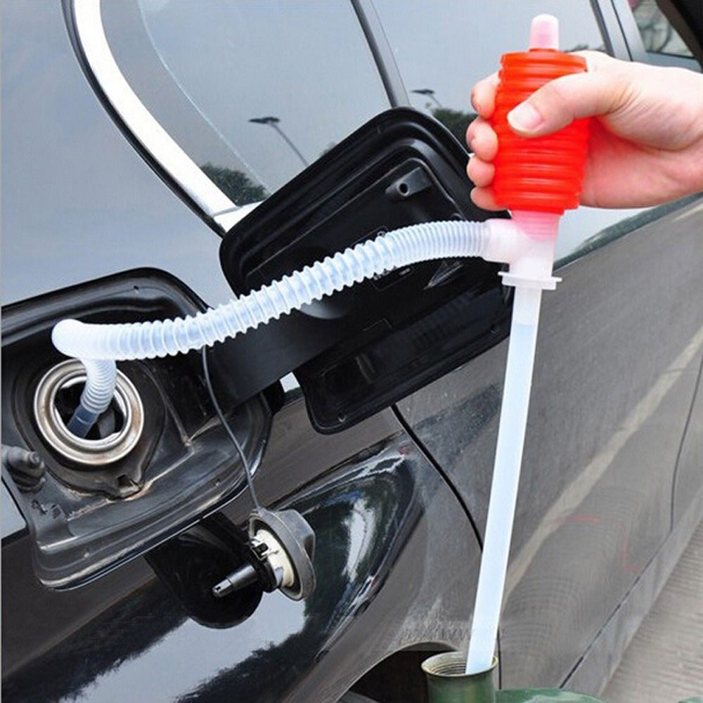 Pump Transfer Hand Fuel Oil Sucker Liquid Truck Diesel Manual Siphon Suction Water Liquid Pump Car Hand Oil Gas Syphon image