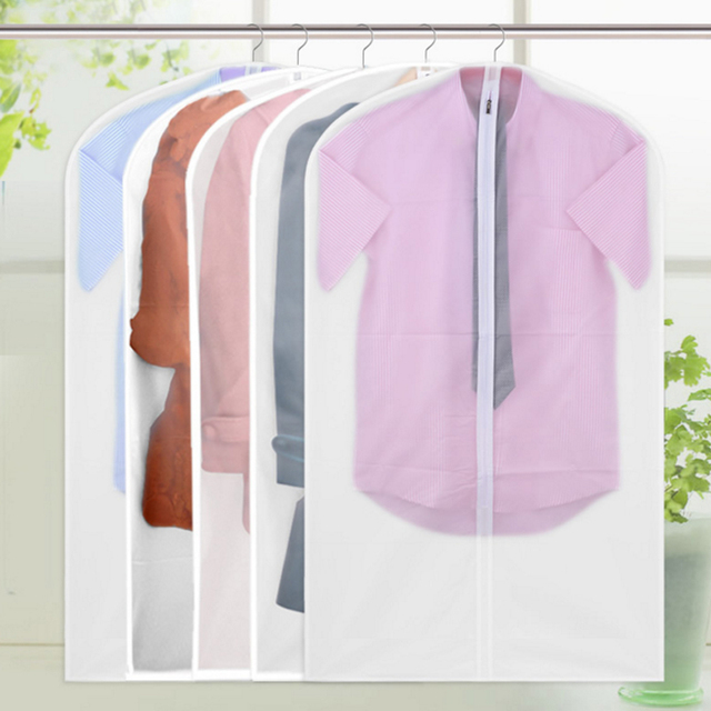 745354ac02ab US $1.2 30% OFF|Multiple Styles Transparent Clothes Dust Cover Clothing  Suit Garment Hanging Pocket Can Wash Storage Bag Organizer For Jack Coat-in  ...