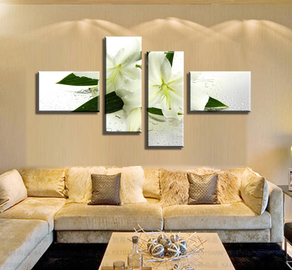 ̿̿̿(•̪ )Picture beautiful classic flower 5 Panels/Set HD Canvas ...