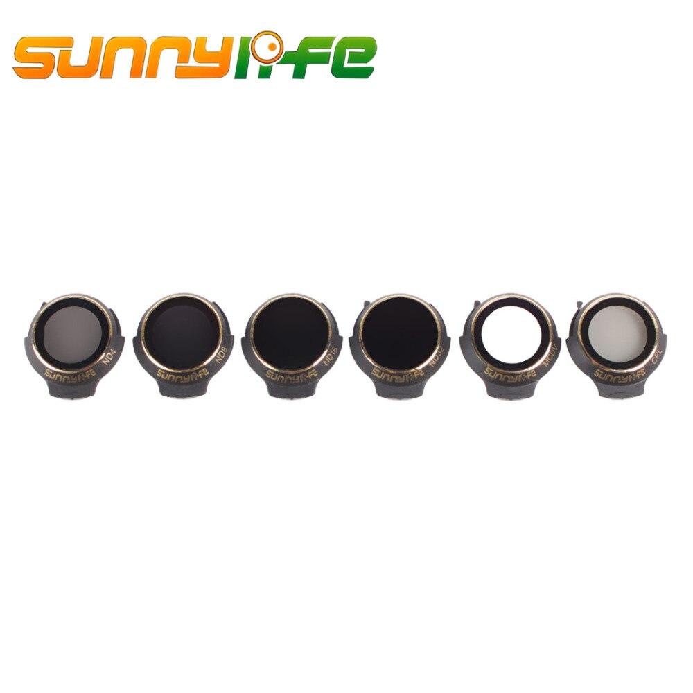 Sunnylife 6 piezas MCUV CPL ND4 ND8 ND16 ND32 Filtro de lente para DJI Mavic Pro/blanco alpino/ platino para DJI Drone UAV vuelo Kits