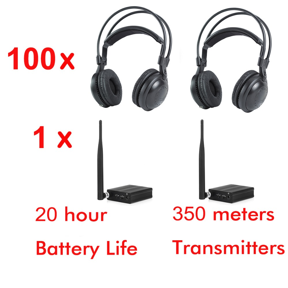 500m RF strong low bass classical silent disco headphones package ( 100 headphones and 1 transmitter)500m RF strong low bass classical silent disco headphones package ( 100 headphones and 1 transmitter)