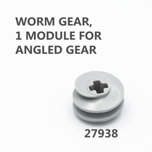 Technic Parts 10pcs WORM GEAR, 1 MODULE FOR ANGLED GEAR compatible with lego for kids boys toy 27938