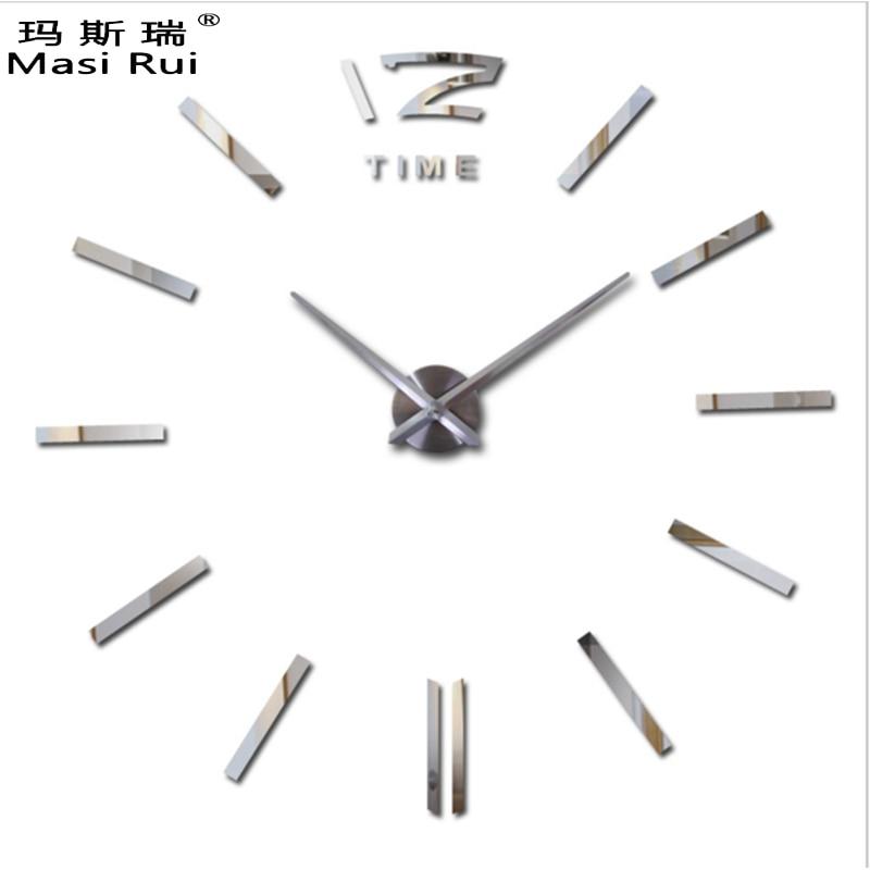 2017 Nové velké nástěnné hodiny Moderní design 3D DIY hodinky Nástěnné hodiny Interiér Domácí dekorace Relogio de Parede Doprava zdarma