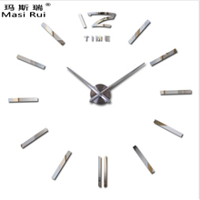 ФОТО   Large Wall Clock Modern Design 3D DIY Watch Wall Clocks Interior Home Decoration Relogio De Parede
