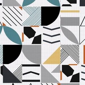 Image 5 - ホットブルー防水幾何タイル不足テーブルトップス壁アート家具自己粘着pvc壁紙ウォールステッカー