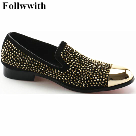 New Slip On Men Loafers Gold Rivets Studs Sapato Masculino Casual Shoes Men Flats For Men Size 38-47 Metal Round Toe Flats Shoes 2017 new flats men shoes zip round toe leather men loafers shoes fashion brand outdoor shoes casual sapatos masculino