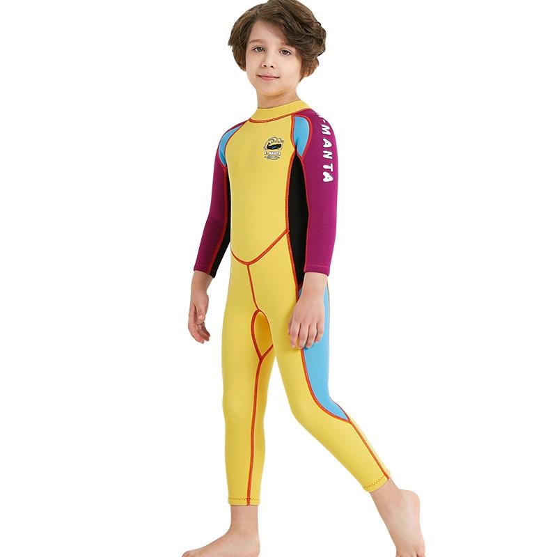 3559976face Kids Wetsuit Full 2.5mm Long Sleeve Wet Suit Swim Suit Surfing Suit Scuba  Diving Snorkeling Suits Jumpsuit Boys   Girls 90 145cm-in Wetsuit from  Sports ...