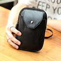 New Men PU Leather Cell/Mobile Phone Cover Case Sling Chest Hip Belt Bum Purse Fanny Pack Waist Bag Mini Hook Pouch