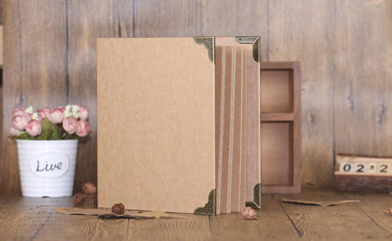 A4 Size 30 Pcs Kraft Paper Sheets Card Blank Cover Wedding DIY Album Handmade Vintage Photo foto Scrapbook Photo Album