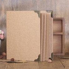 Tamaño A4 30 hojas de papel Kraft tarjeta cubierta en blanco álbum de boda DIY hecho a mano Vintage foto álbum de recortes álbum de fotos