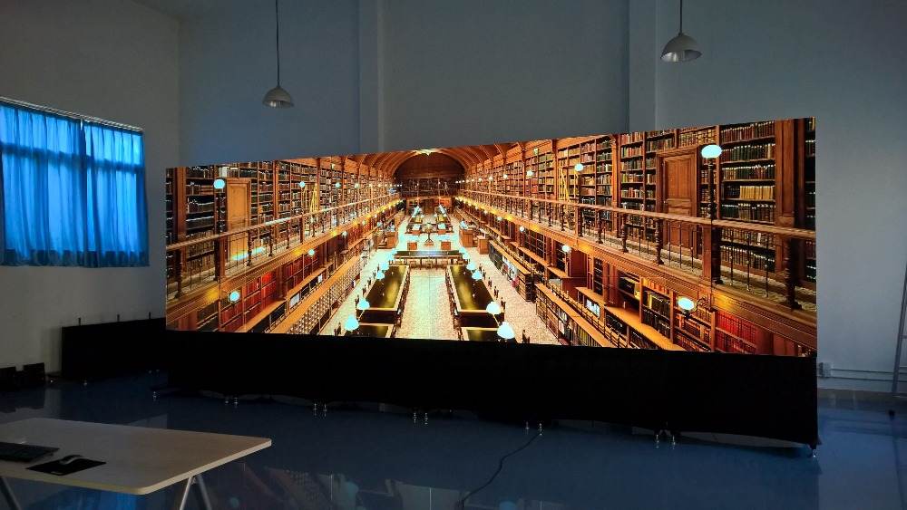 Size Of 2.8x9.8m New CCTV Lcd Video Wall Made Of 7680x2160(4x8)55 Inch Transparent Bezel Panel Full HD LCD Video Wall