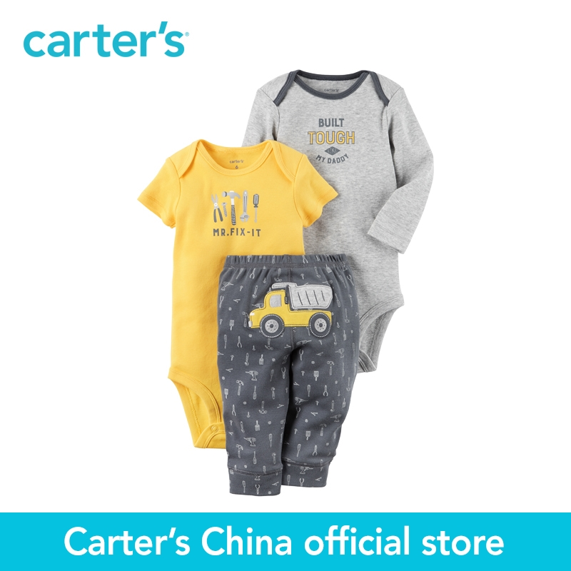Carter's 3-Piece baby children kids clothing Boy Spring Summer Little Character Set 126G855 комбинезоны little boy комбинезон трансформер