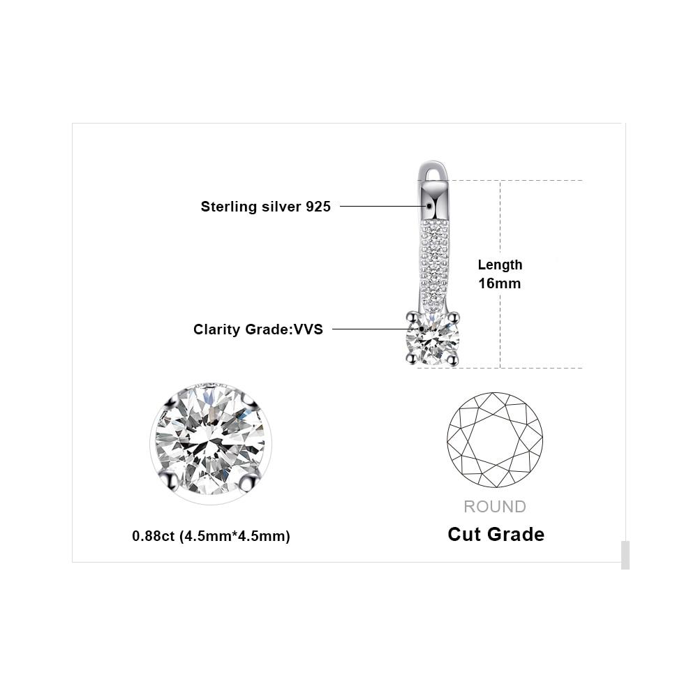 JewelryPalace Zirkonia Creolen 925 Sterling Silber Ohrringe Für - Modeschmuck - Foto 5