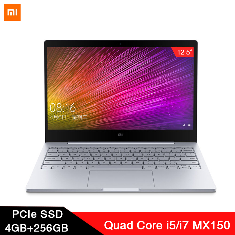 2019 Xiaomi Laptop Air 12.5'' Intel Core M3-8100Y Dual Core Notebook 4GB RAM 128GB SSD Dual Band HDMI Windows10 1080P HD Camera