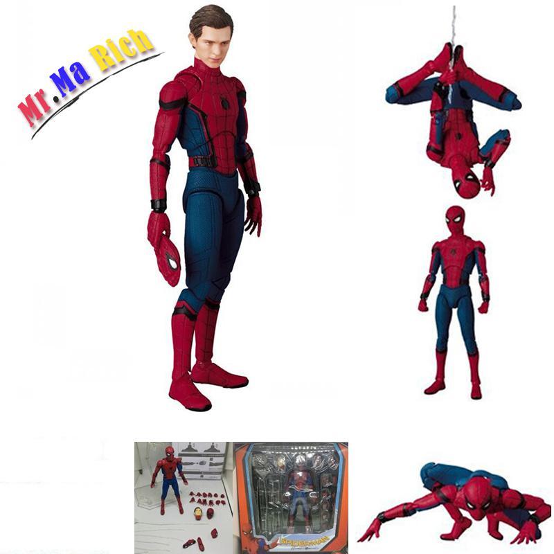 The Amazing Spiderman Variante Figura Versione Cinematografica Spider Man Peter Parker Pvc Action Figure Toy Doll Regalo spiderman creator x creator the amazing spider man pvc figure collectible model toy