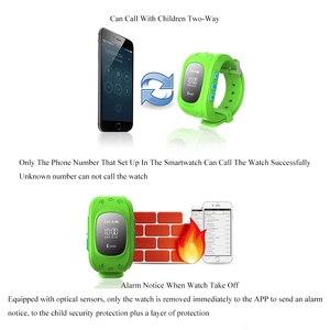 Image 4 - Chroniący przed zgubieniem Q50 LCD OLED dziecko GPS lokalizator LBS SOS Smartwatch monitorowanie pozycjonowanie telefon dzieci SIM inteligentny zegarek dla IOS Android