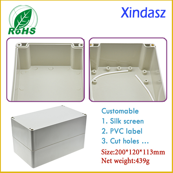 200*120*113mm 7.87*4.72*4.45inch  plastic boxes electronics enclosure waterproof junction box waterproof electrical enclosures 200 120 75mm size surface mounted waterproof sealed plastic electrical enclosure switch junction box
