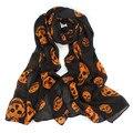 Hot Women's Scarfs Fashion Big Skull Head SKeleton Soft Long Shawl Scarf Wrap Stole Drop Shipping WDec16