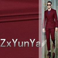 Nouveau 148 cm costume tissu de laine 80% laine Italien style vin rouge costume de laine peignée sergé de laine costume pantalon tissu haute