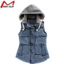 Women Vest New Female Outwear Sleeveless Jacket Winter Down Cotton Warm Women Waistcoat Plus Size Casual Vest YL045