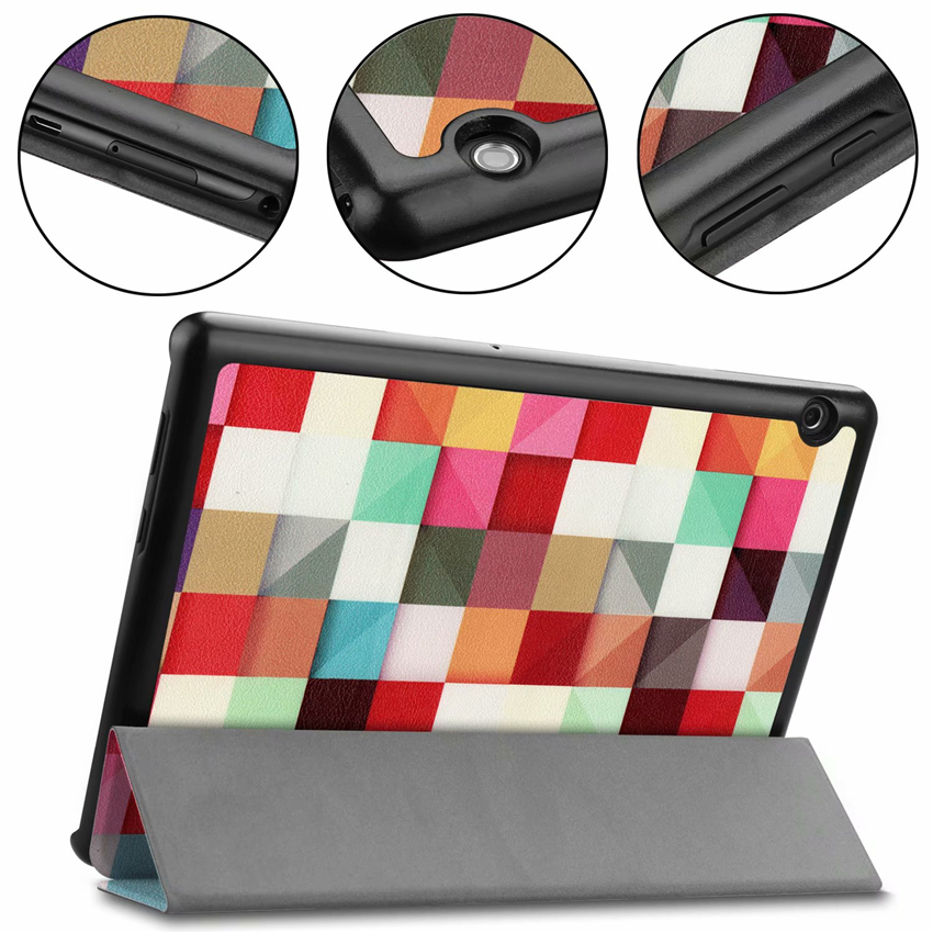 For Huawei T5 10 PU Leather Case Cover Slim 10.1'' Shockproof Protective Stand For Huawei Mediapad T5 10 Smart Tablet Skin Funda
