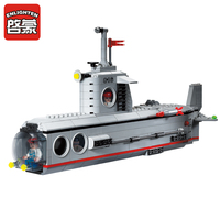 E Model Compatible with Lego E816 382pcs Sbumarine Models Building Kits Blocks Toys Hobby Hobbies For Boys Girls