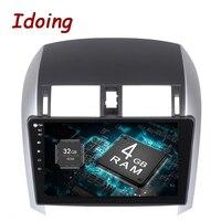Idoing 1Din10. 2 4G B + 32 ГБ 8 ядерный Автомобильный gps плеер для Toyota Corolla Android8.0/7,1 рулевое колесо навигация быстрая загрузка 4G без DVD
