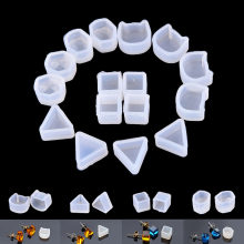 2Pcs Multi Design Women Clear Silicone Mold For Making Jewelry Earrings DIY Mold Resin Casting resin molds for jewelry(China)
