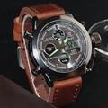 Men Military Watches Dive 50M Nylon&Leather Strap LED Watches Men Top Brand Luxury Quartz Watch reloj hombre Relogio Masculino