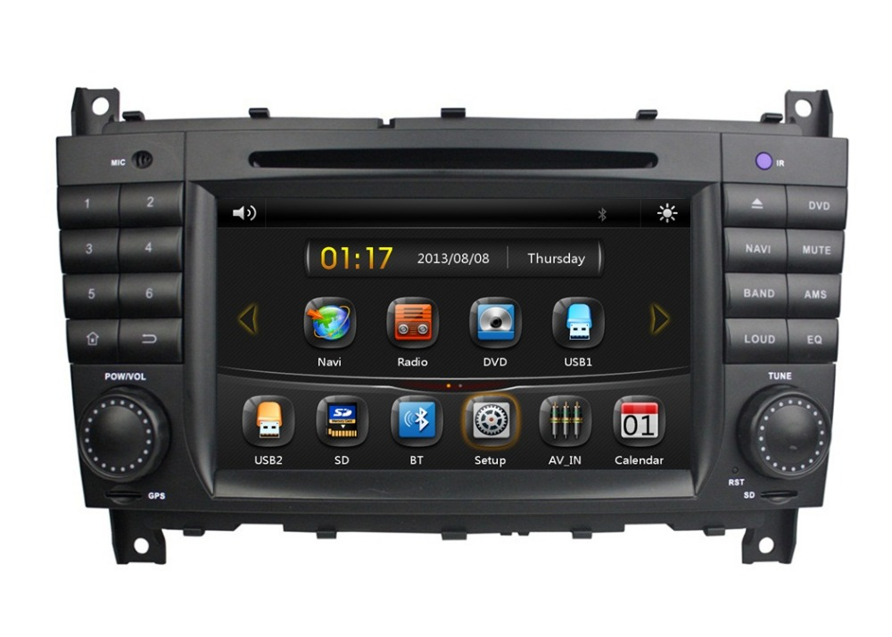 HD 2 din 7″ Car DVD GPS for Mercedes Benz C Class W203 CLC G Class W467 2008-2011 With Bluetooth IPOD TV SWC AUX IN USB