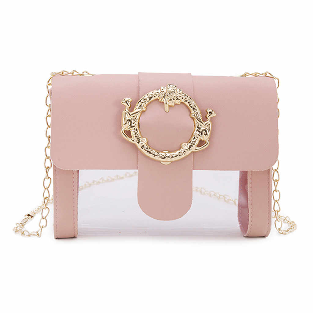 Fashion Transparent Jelly Zipper Shoulder Messenger Handbag Women Bag 2019 Luxury Bags Designer feminina sac main femme drop