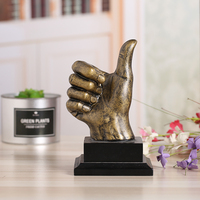 Excellent Quality Creative Design Resin Crafts Ornaments Thumbs Trophy Home Decoration Study Resin Crafts Various Styles