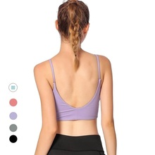 Women U Style Back Fitness Running Gym Workout Sexy Yoga Sports Bra Top Crop Top Bra with Removable Pads sujetador deportiv