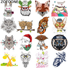 ZOTOONE Tiger Stripes on Clothes Sticker Iron Patches for Kids Clothing Cute Diy Heat Transfers T-shirt Printed Applique