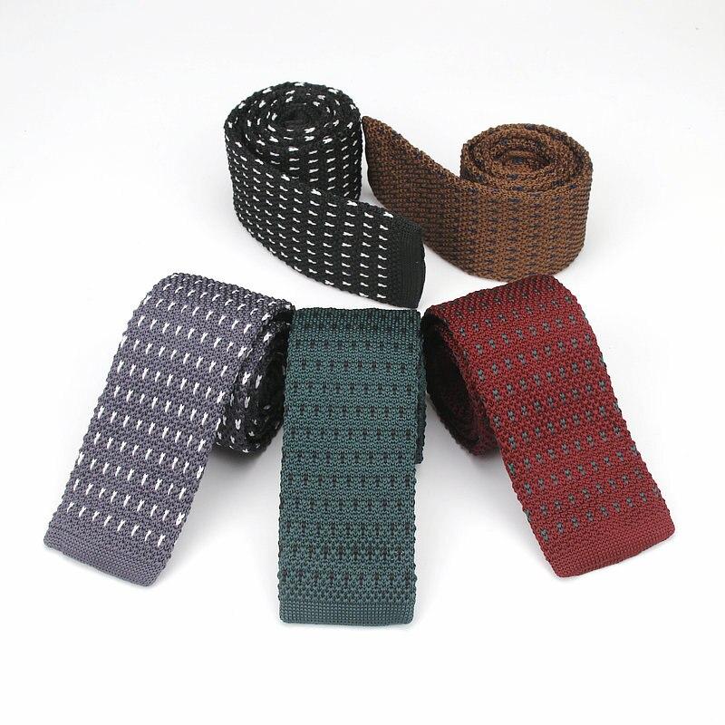 Bekleidung Zubehör Luxus Exklusive 59 lange Mens Dünne Krawatten Schwarz Polyester Seide Plaids Stripes Dots Jacquard Schmale 5 Cm Dünne Krawatte Hals Binden