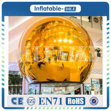 Large Inflatable floating mirror balloon,inflatable mirror ball for advertising cute inflatable advertising duck