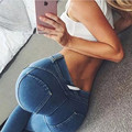 Women Push Up Fashion Women Jeans Stretch High Waist Trousers Sexy Hip-Hugger Pants Slim Elastic Trousers Fashion Femme Jeans