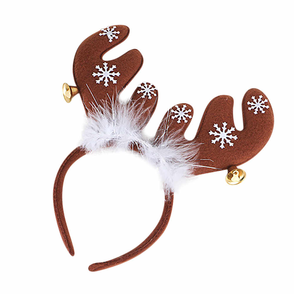 Christmas A Pair Simulation Antlers Headwear Headband Flocking Artificial Sika Deer Antlers Christmas Decorations Supplies @3