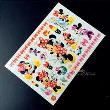 Minnie Mouse Girl Flash Tattoo Stickers Body Art Fake Tatoo Arm Child Temporary Waterproof Tattoo Kids
